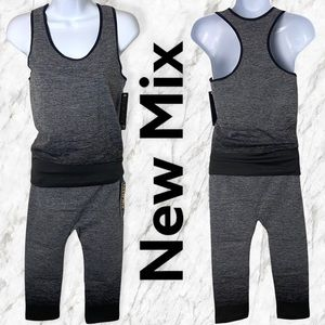 New Mix Grey and Black 2-Piece Active Set, One Size